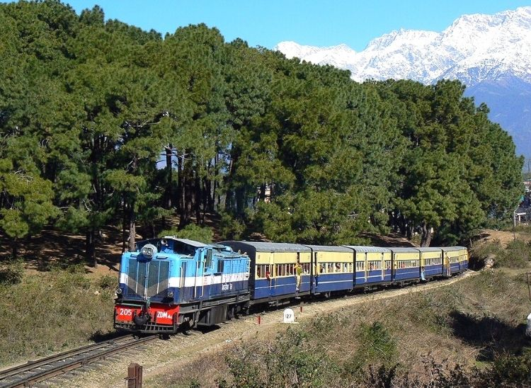 View of Kangra Valley Railway | Top 5 Mountain Railway Toy Trains In India