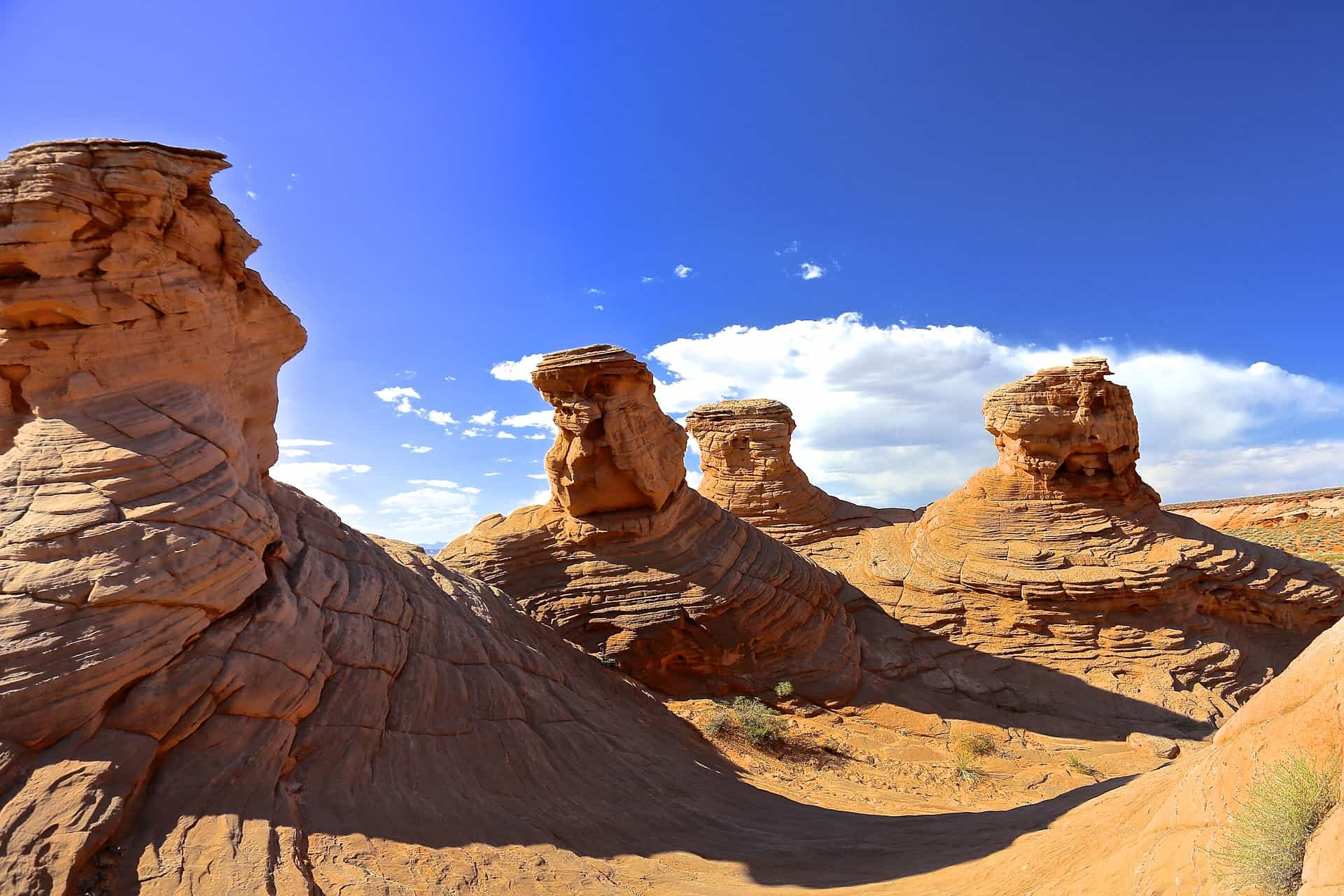 Breathtaking picture of Antelope Canyon Four Sisters. A natural phenomenon.