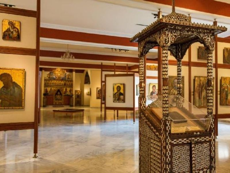 The Byzantine Museum, within the walled city of Lefkosia (Nicosia), contains the richest and most representative collection of Byzantine art on the island.