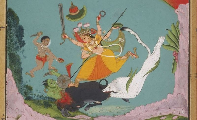 The Great Goddess Durga Slaying the Buffalo Demon (Mahishasuramardini)   Dawn of Durga Article Series   The tale of every woman   By Team Travelature